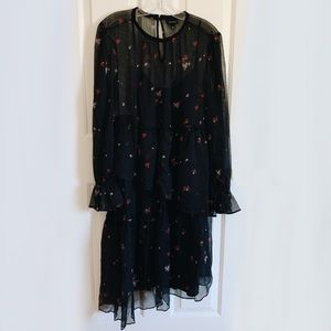 Who What Wear Floral Layered Dress